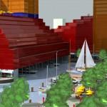 Jachthaven in bebouwing